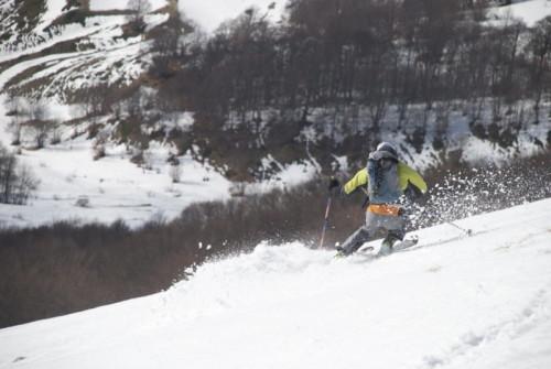 Ettore Bona sulle nevi dei Sibillini